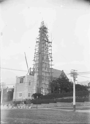 Building St Luke's spire and chancel