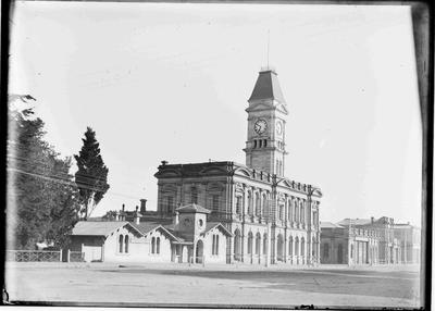 First Oamaru Post Office, Thames Street. Post Office and clock tower