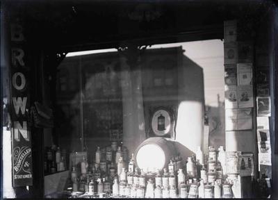 J M Brown Bookseller & Stationer shop window