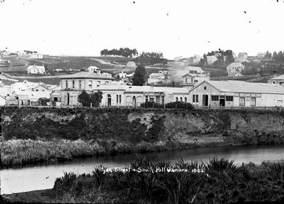 Tyne Street & South Hill Oamaru 1865