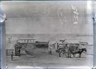 Wansbeck Street Oamaru about 1876