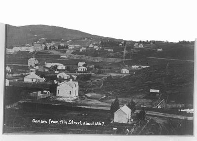Oamaru from Aln Street about 1867