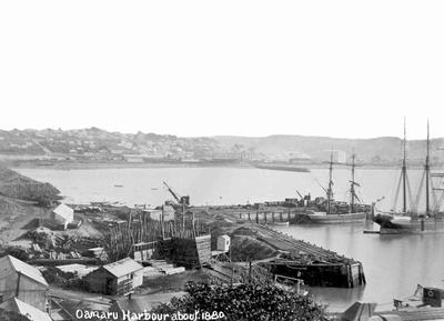 Oamaru Harbour about 1880