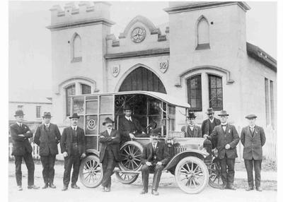 St John Ambulance Brigade Officers and Ambulance, Steward Street