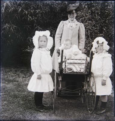 Unidentified woman and children. Elderslie Estate