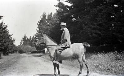 Man on horseback. Elderslie Estate