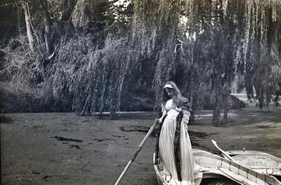 Girl in boat. Elderslie Estate lake