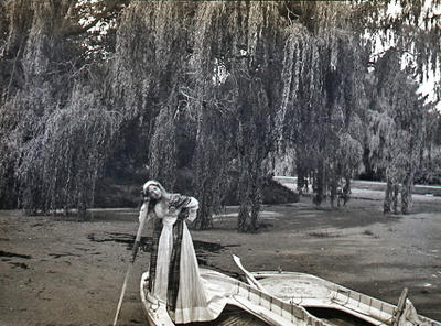 Girl in boat, Elderslie Estate lake
