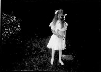 Joan Douglas (?)  with bird
