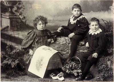 Children's portrait, unidentified
