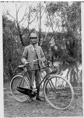 Riddell, Traveller for J. H. Milligan with Bicycle.
