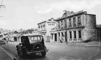 Tyne Street facing south. Waitaki Dairy.