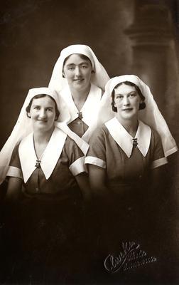 Ev Major, Mawes Scott, Eileen Elliot, Staff Nurses, Oamaru Public Hospital 'Our Seniors'
