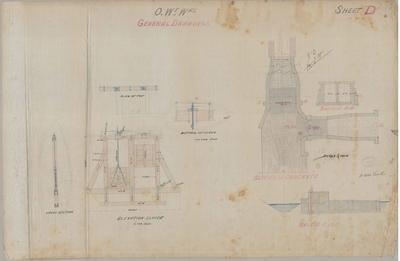Oamaru Waterworks. General Drawings. Sheet D.