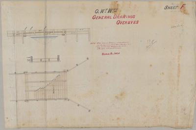 Oamaru Waterworks. General Drawings Overbyes. Sheet F.