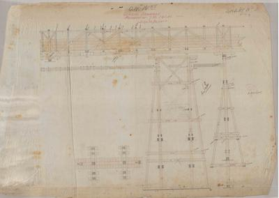 Oamaru Waterworks. General Drawings Aqueduct at 7 miles 14 chains. Sheet number 3 [Awamoko Section].