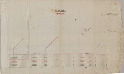 Oamaru Waterworks. Section. Sheet number 5 [Awamoko Section].