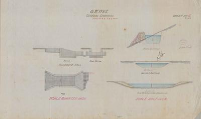 Oamaru Waterworks General Drawings. Sheet number 6 [Black Point Section].