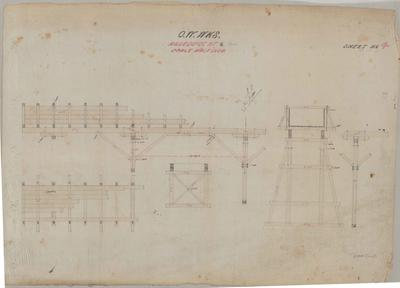 Oamaru Waterworks Aqueduct at 9/34. Sheet number 4 [Papakaio Section].