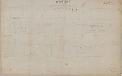 Oamaru Waterworks Sections for Aqueducts. Sheet number 1 [Landon Contract].