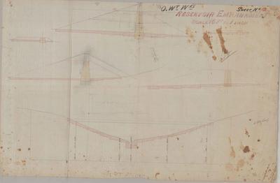 Oamaru Waterworks Reservoir Embankment. Sheet number 8 [Landon Contract].