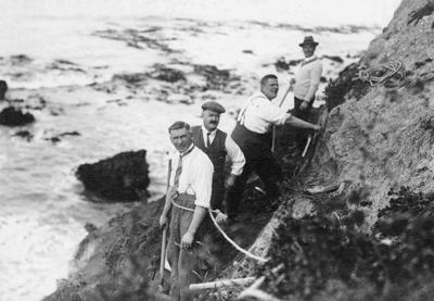 Construction of Marine Parade, Cape Wanbrow, c. 1930