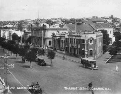 Streetscape, Thames Street looking south, Oamaru