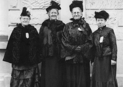 Mrs B Meek, Mrs Lindsay, Mrs Falconer, Mrs Hal