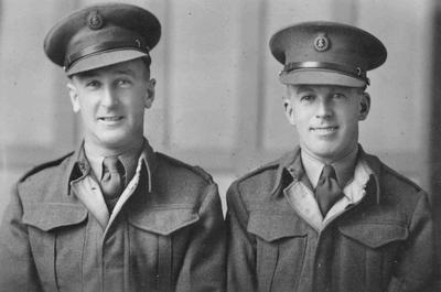 Two Gentlemen of the Salvation Army. Albie Hill (left) and Norm Hamilton, Burnham Camp, c. 1943
