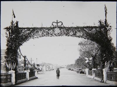 Coronation decorations Severn Street Arch