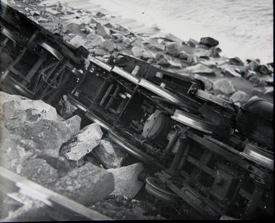 Locomotive dump. Oamaru Harbour erosion