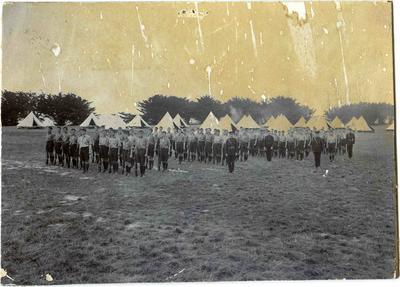 Military Camp, Easter.  Waitaki boys' High School