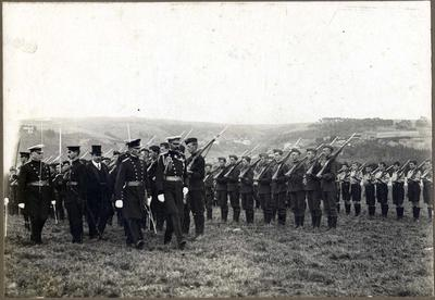Lord Kitchener inspecting cadets, Forbury Park Dunedin.
