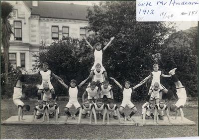 Preparatory Department with Mr Anderson. Junior Pyramids - Gymnastics