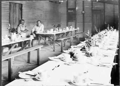 Cafeteria (?) Waitaki Farmers' Freezing Company, early 1920s