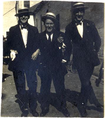 McEwan, Kerr and Doughty. Waitaki Boys' High School; P0109.063.4
