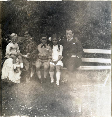 Florence and Frank Milner with their children. Waitaki Boys' High School