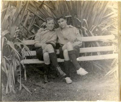 Garland and Hunter. Waitaki Boys' High School; P0109.063.27