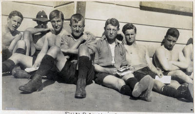 Sunbathing. Waitaki Boys' High School