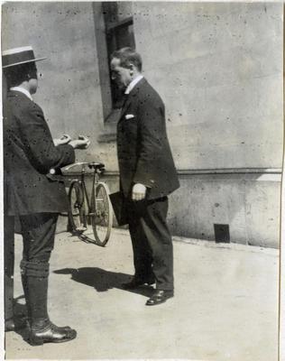 Inspection before church. Waitaki Boys' High School; P0109.063.37