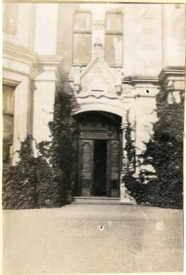 The Rector's front door. Waitaki Boys' High School; P0109.063.47