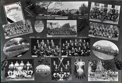 Christmas photo collage 1914. Waitaki Boys' High School; P0109.082.4