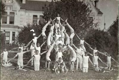 Human pyramid, Waitaki Boys' High School