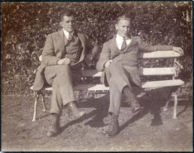 Mr McCulloch and Mr Hall. Waitaki Boys' High School; P0109.082.25