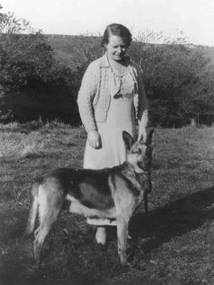 "Proctor, Florence and dog ""Nadia"