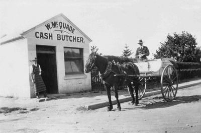 The shop of W McQuade, Cash Butcher