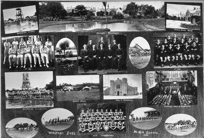 Photo montage of Waitaki boys High School