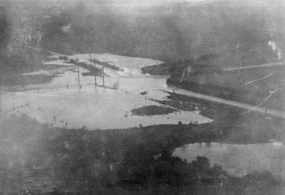 Flood, June 1938. Glebe corner under water