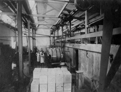 Interior of Taieri and Peninsula Milk Company, Severn Street, c.1935.