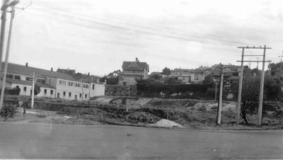 Severn Street, Oamaru,  looking south east to site of Memorial Gardens